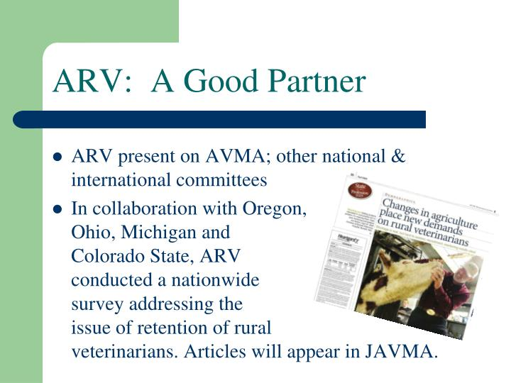 ARV:  A Good Partner