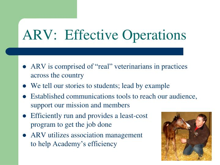 ARV:  Effective Operations