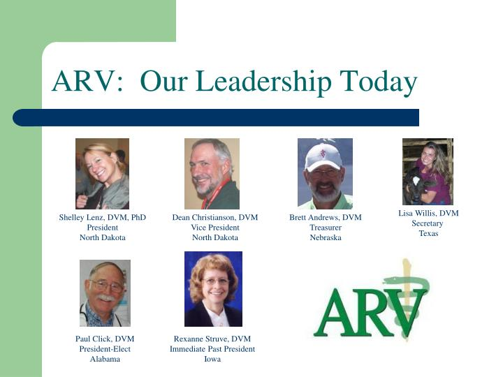 ARV:  Our Leadership Today