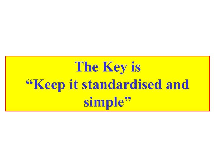 The Key is