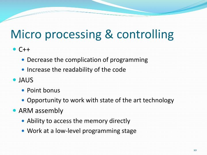 Micro processing & controlling