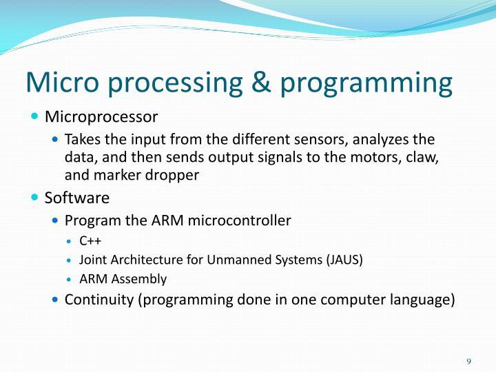 Micro processing & programming