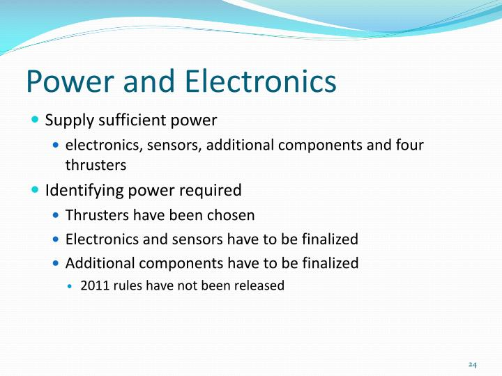 Power and Electronics