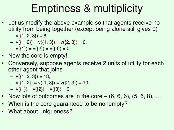 Emptiness & multiplicity