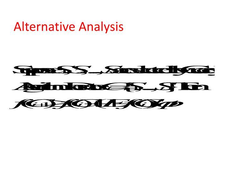 Alternative Analysis