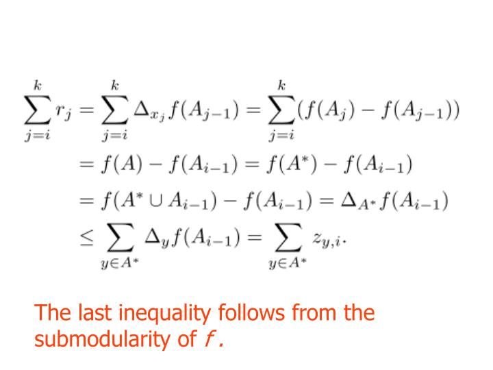 The last inequality follows from the