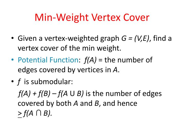 Min-Weight Vertex Cover