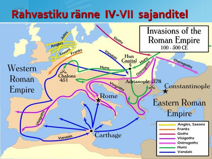 Rahvastiku ränne  IV-VII  sajanditel