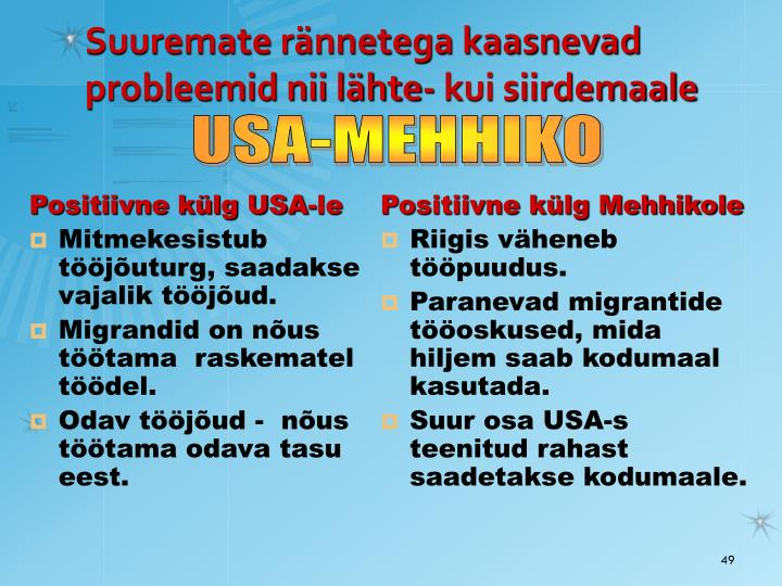Positiivne külg USA-le