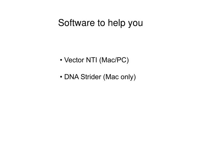 Software to help you