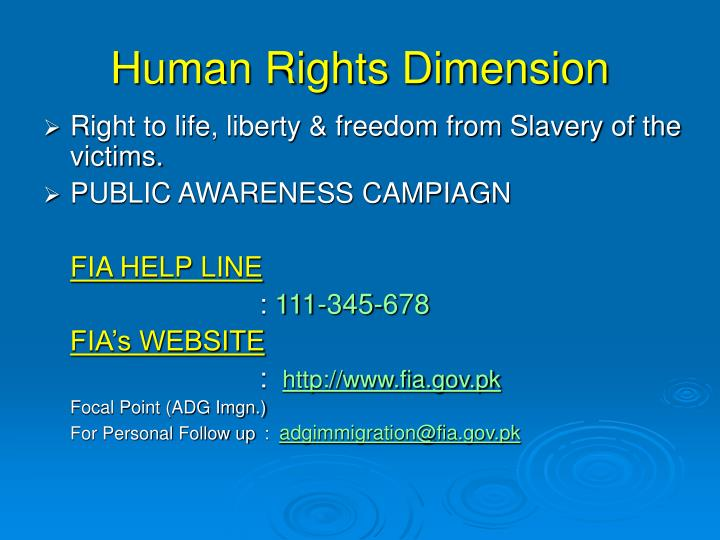 Human Rights Dimension