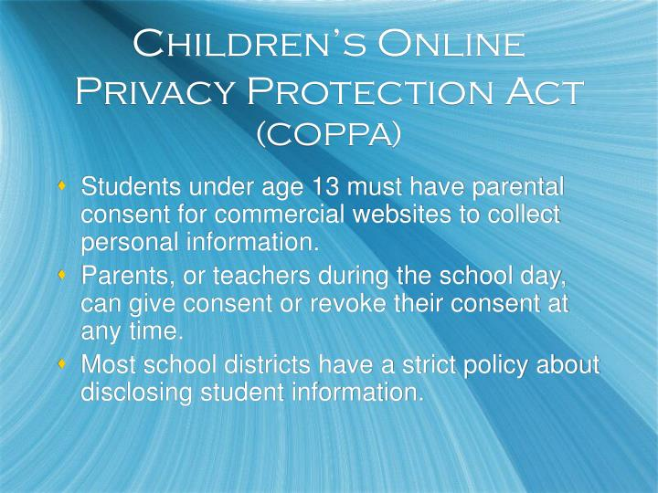 Children's Online Privacy Protection Act
