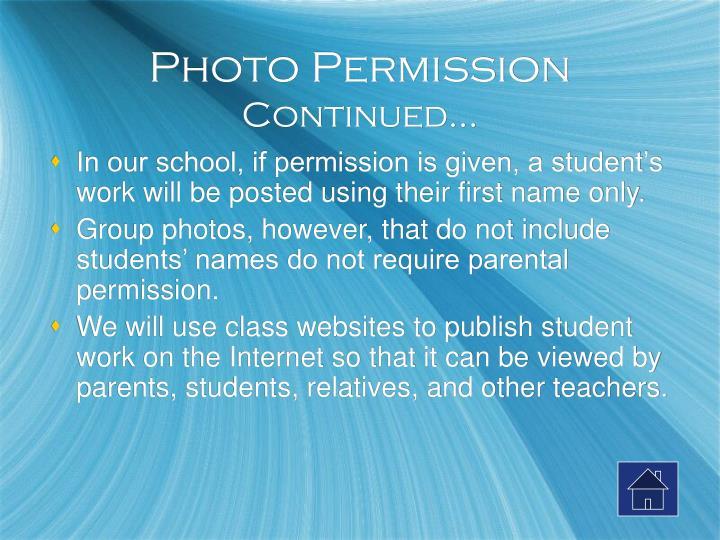 Photo Permission
