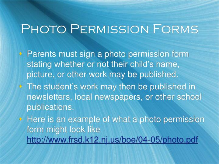 Photo Permission Forms