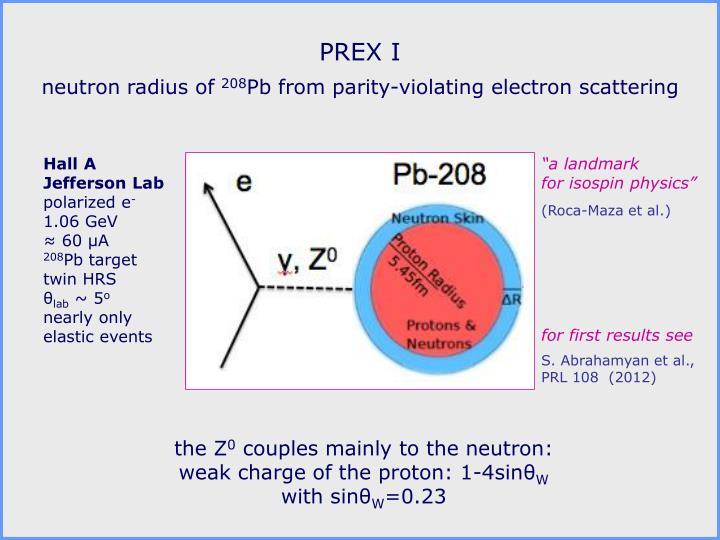 PREX I