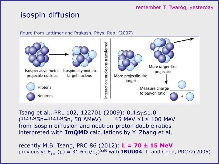 isospin diffusion
