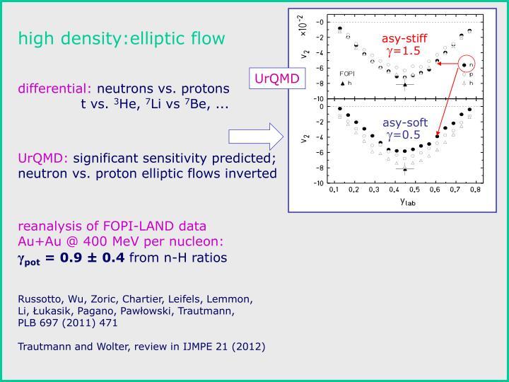 high density:elliptic flow