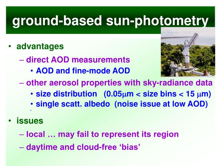 ground-based sun-photometry