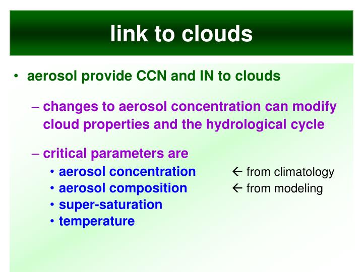 link to clouds