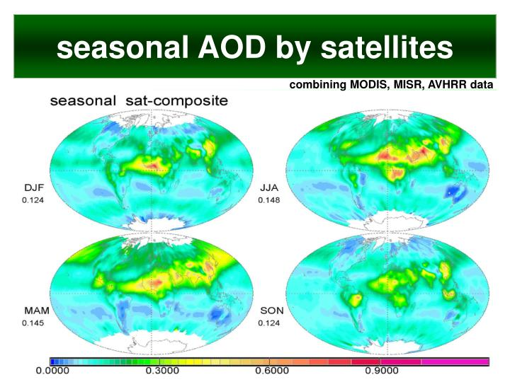 seasonal AOD by satellites