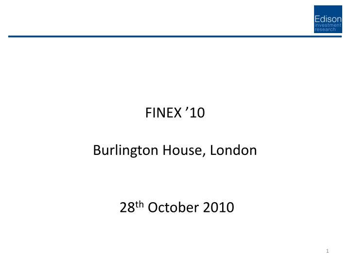 Finex 10 burlington house london