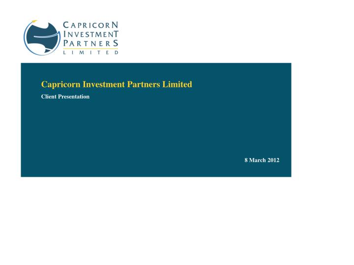 Capricorn Investment Partners Limited