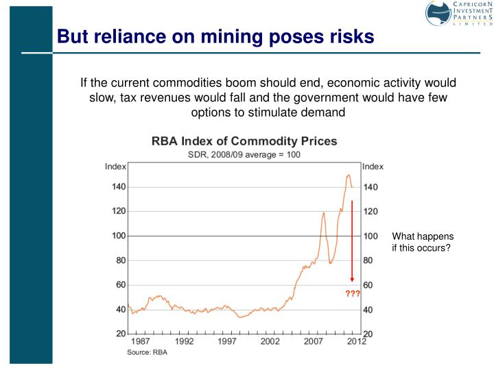But reliance on mining poses risks