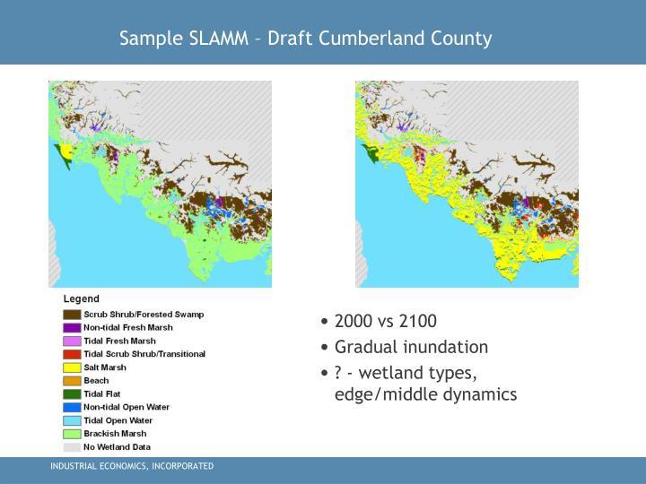 Sample SLAMM – Draft Cumberland County