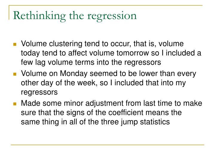 Rethinking the regression