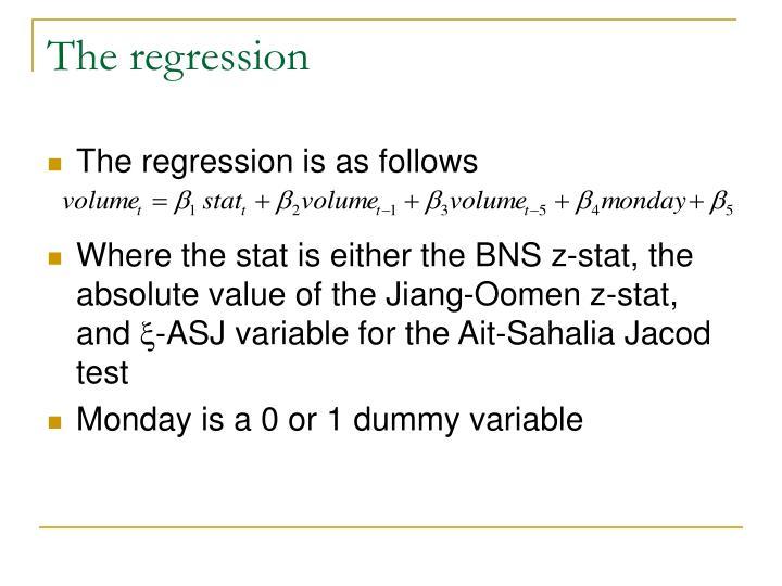 The regression