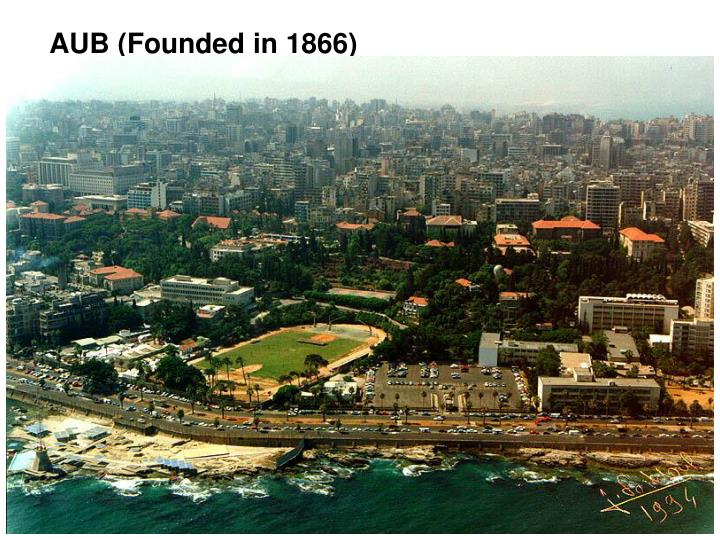 AUB (Founded in 1866)