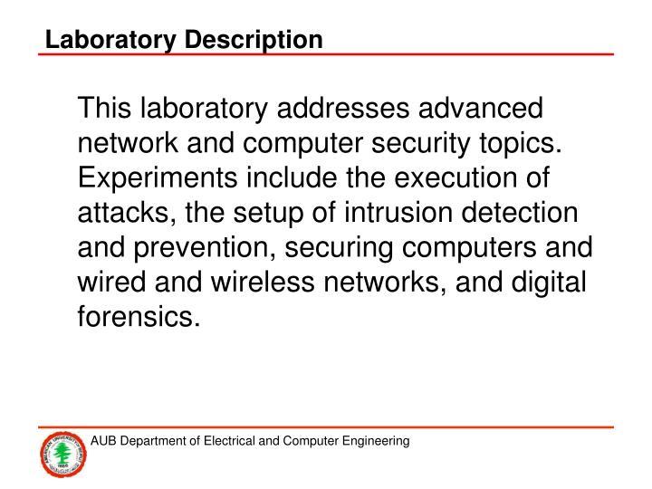 Laboratory Description