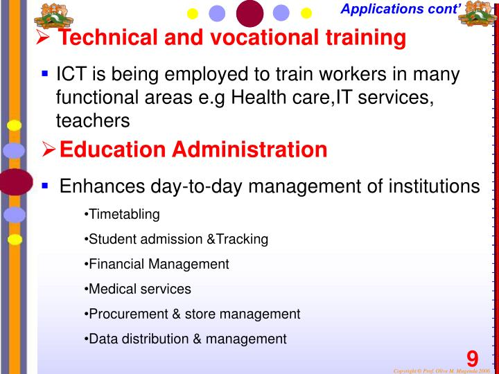 Technical and vocational training