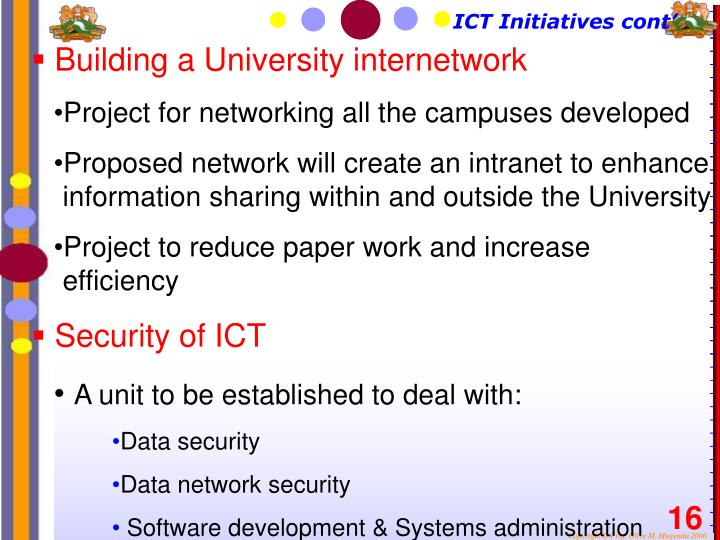 Building a University internetwork