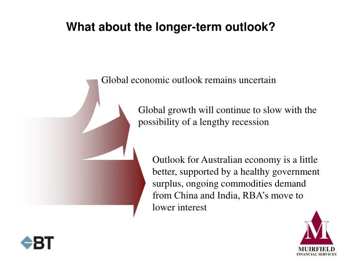 What about the longer-term outlook?
