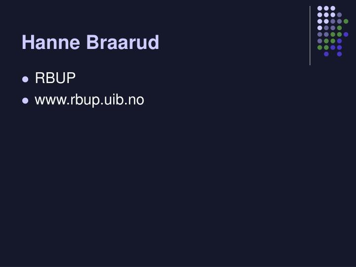 Hanne Braarud