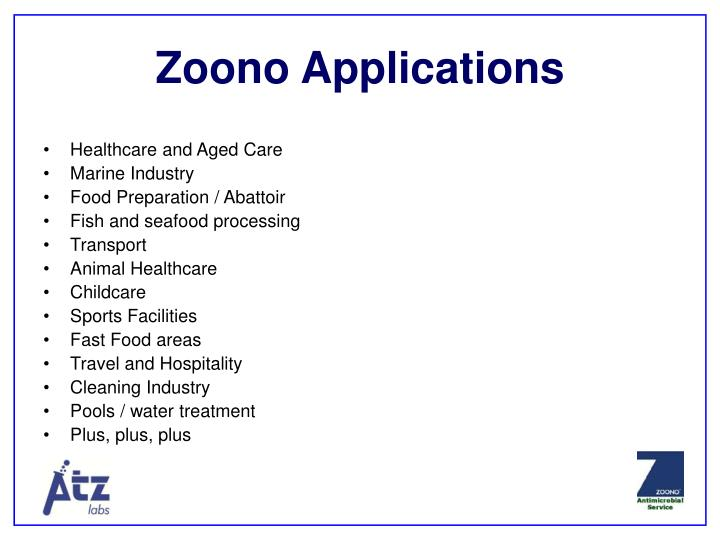 Zoono Applications