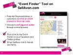 event finder tool on sellavon com