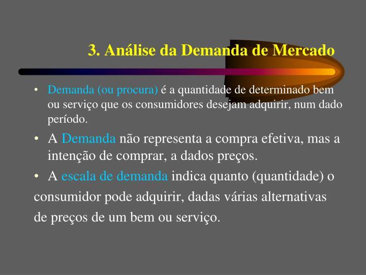 3. Análise da Demanda de Mercado