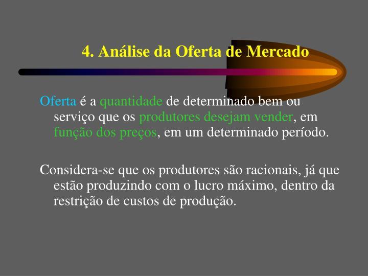 4. Análise da Oferta de Mercado