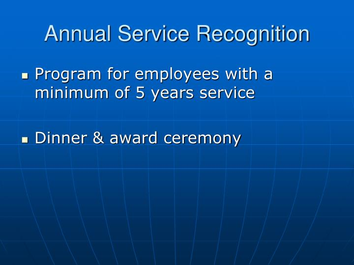 Annual Service Recognition