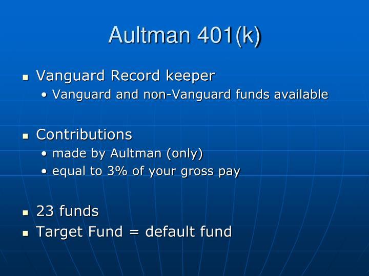 Aultman 401(k)