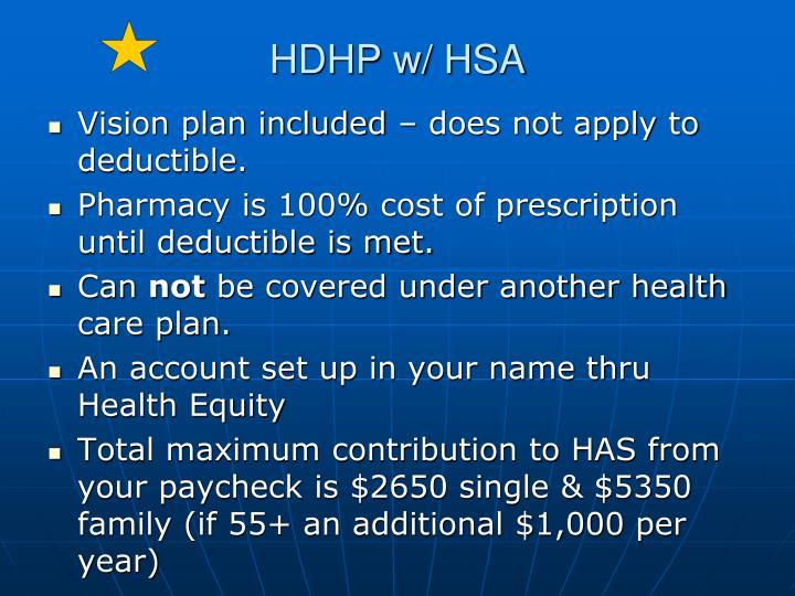 HDHP w/ HSA