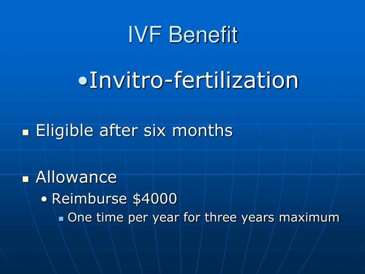 IVF Benefit