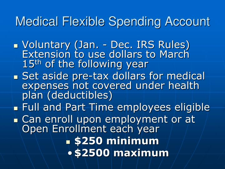 Medical Flexible Spending Account