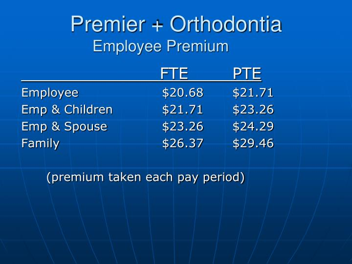 Premier + Orthodontia