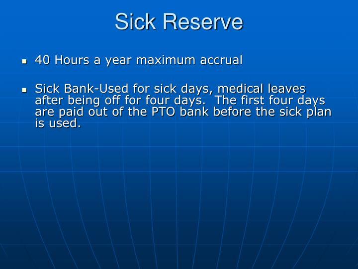 Sick Reserve