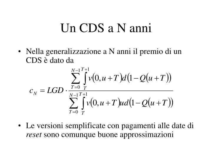Un CDS a N anni