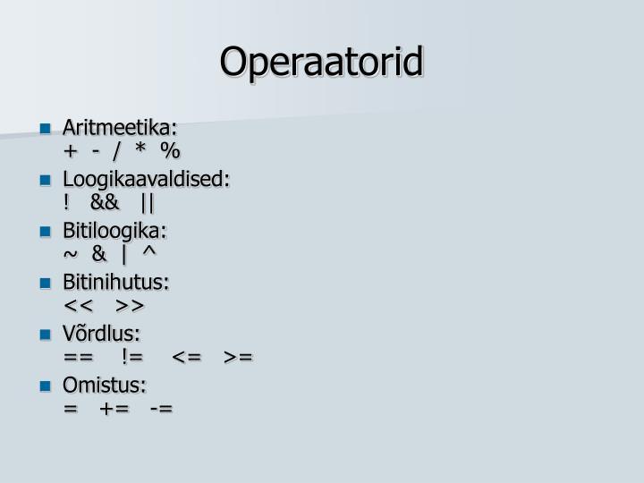 Operaatorid