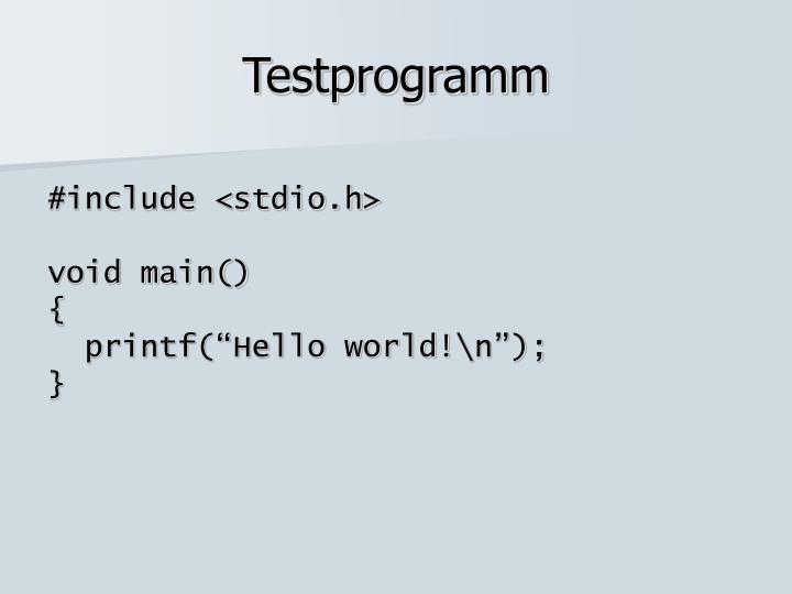 Testprogramm
